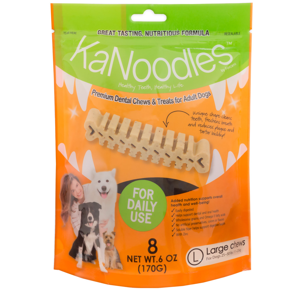 KaNoodles Dental Chews & Treats - Large 6oz (8 counts) im test