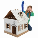 Kitty Play Zone Cardboard Playhouse & Feeding Station