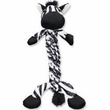 Kong Braidz Zebra Plush Dog Chew Toy (Medium)
