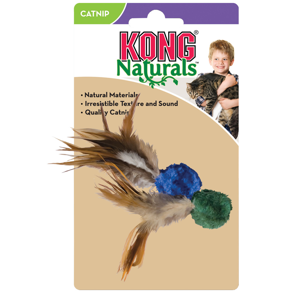 KONG Cat Naturals Crinkle Ball w/Feathers Teaser im test