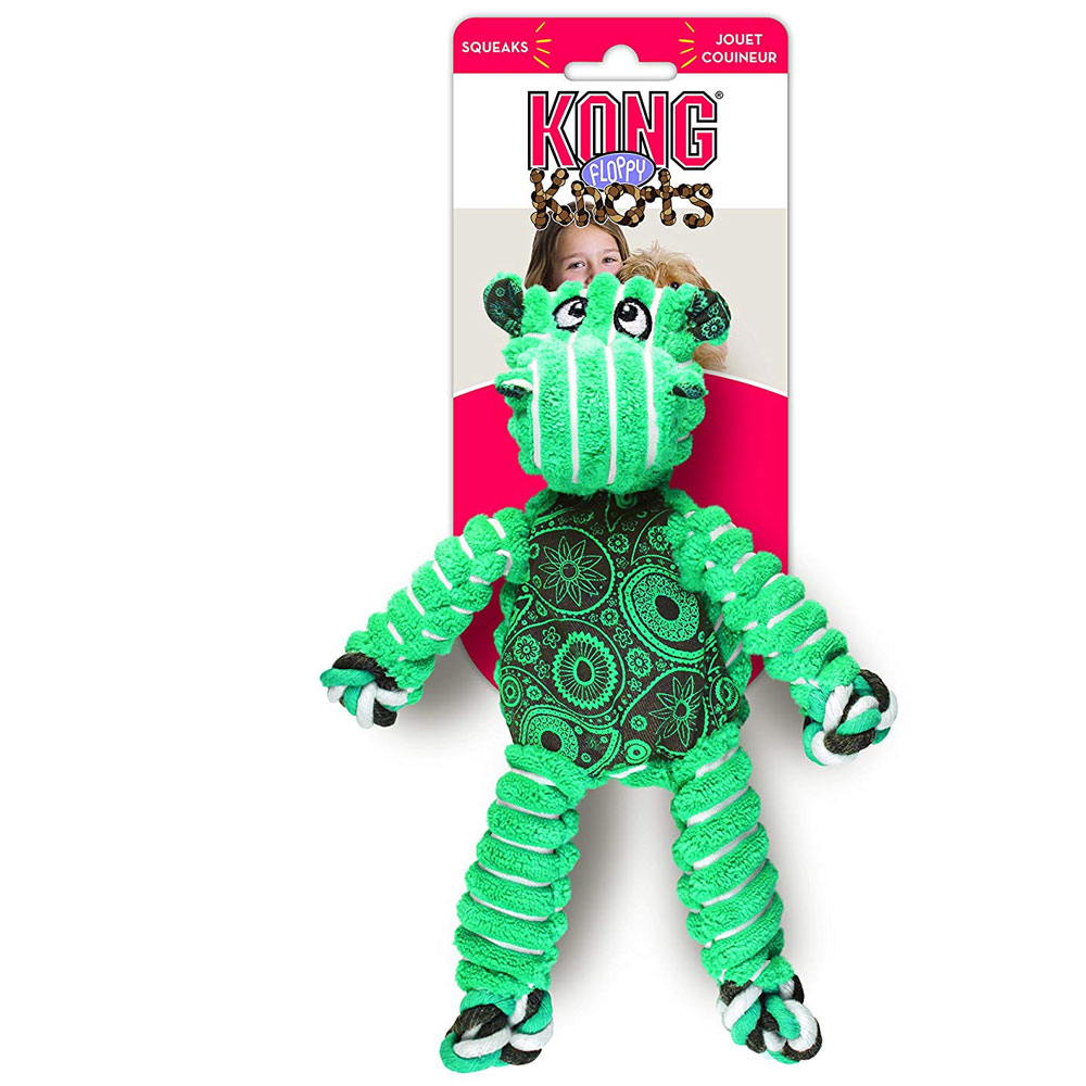 KONG Floppy Knots Hippo Dog Toy - Medium/Large im test