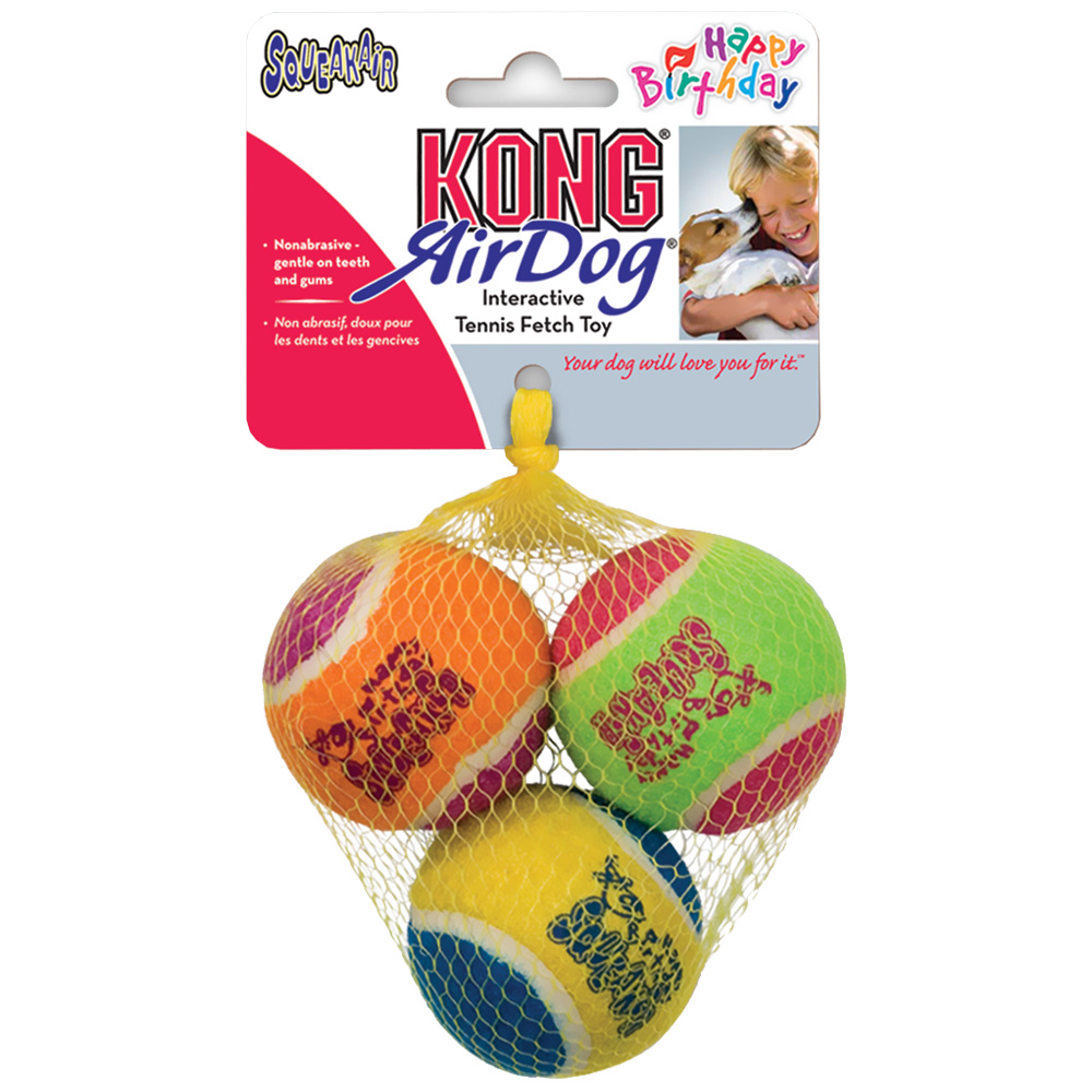Air KONG Squeaker Happy Birthday Balls - Medium im test