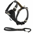 Kurgo Enhanced Strength Tru-Fit Smart Harness with Seatbelt Tether (Small) - Black