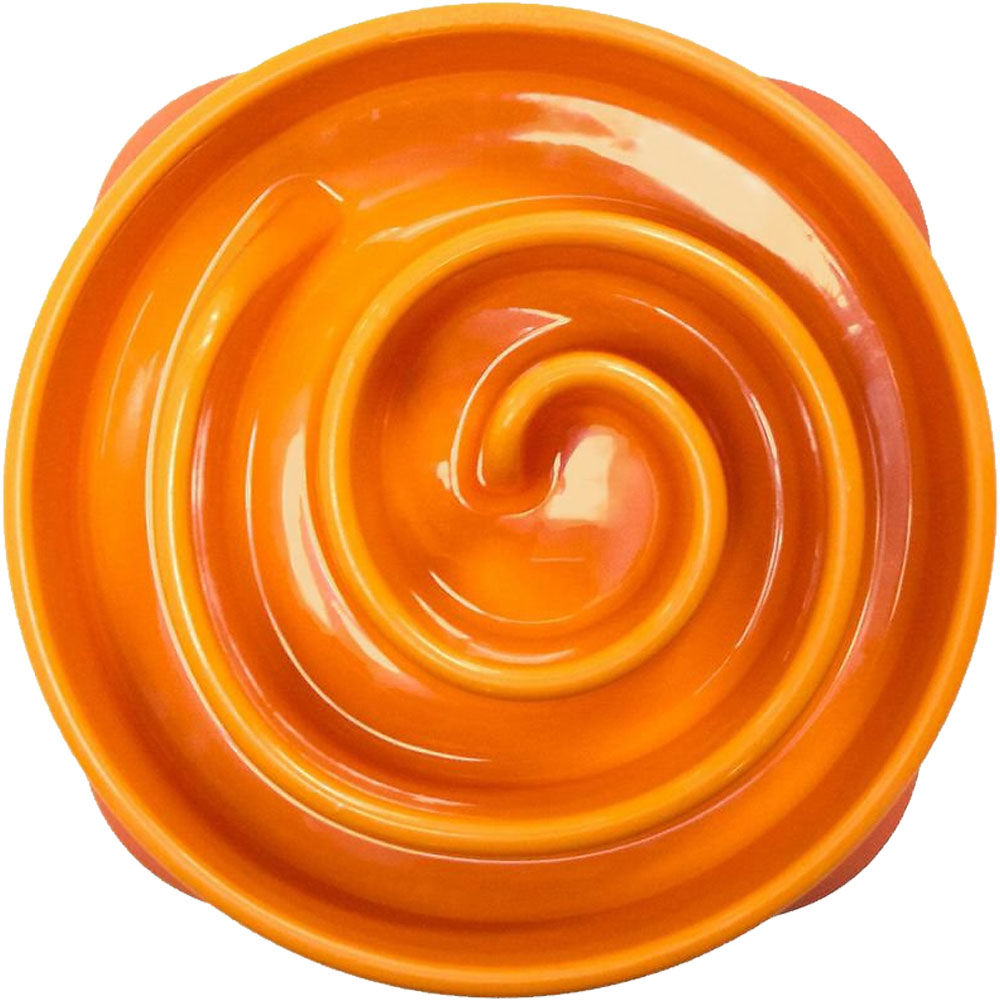 KYJEN-DOG-GAMES-SLO-BOWL-MINI-CORAL-ORANGE