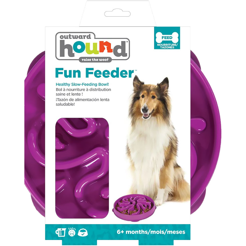 KYJEN-DOG-GAMES-SLO-BOWL-SLOW-FEEDER-FLOWER-PURPLE