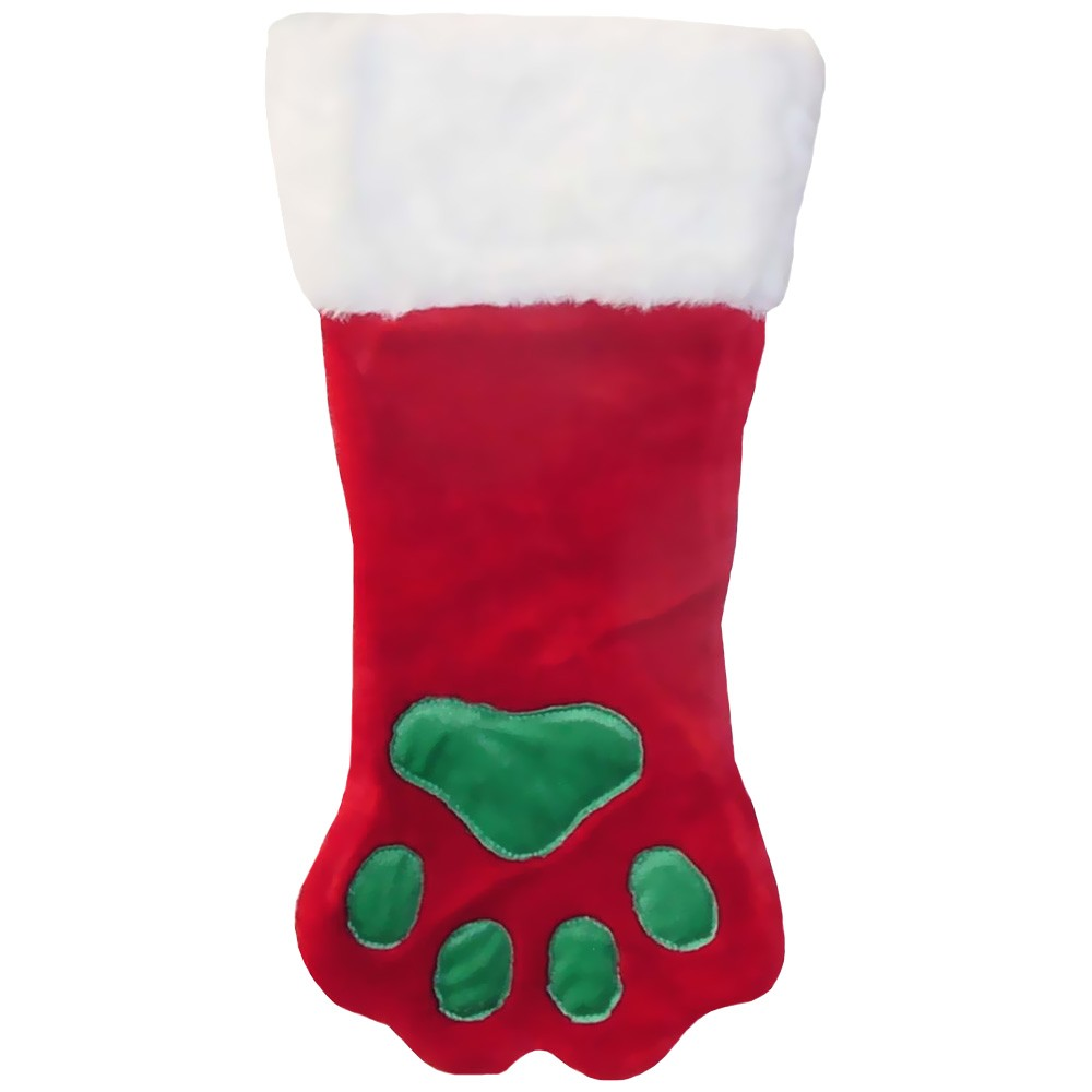 Kyjen Holiday Red Paw Stocking - Large from EntirelyPets