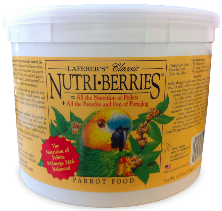 Lafeber Classic Nutri-Berries Parrot Food Bucket (3.25 lb) im test