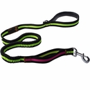 LaiFug Bungee Dog Leash - Black/Green (50 Inch)