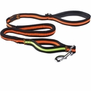 LaiFug Bungee Dog Leash - Black/Orange (50 Inch)