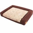 "LaiFug Orthopedic Memory Foam Folding Pet Bed - Chocolate (Large 40""x30""x8"")"