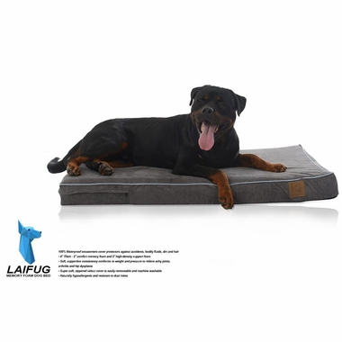 LAIFUG-ORTHOPEDIC-PET-BED-BLUE-DENIM-MEDIUM