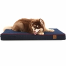 "LaiFug Orthopedic Memory Foam Pet Bed - Blue Denim (Medium 34""x22"")"