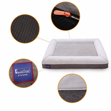 LAIFUG-ORTHOPEDIC-PET-BED-CHOCOLATE-LARGE-43X36X7