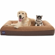 "LaiFug Orthopedic Memory Foam Pet Bed - Chocolate (Large 43""x36""x7"")"