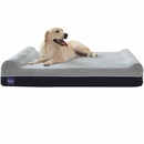 "LaiFug Orthopedic Memory Foam Pet Bed - Slate Grey (Jumbo 50""x36""x10"")"