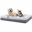"LaiFug Orthopedic Memory Foam Pet Bed - Slate Grey (Large 43""x36""x7"")"
