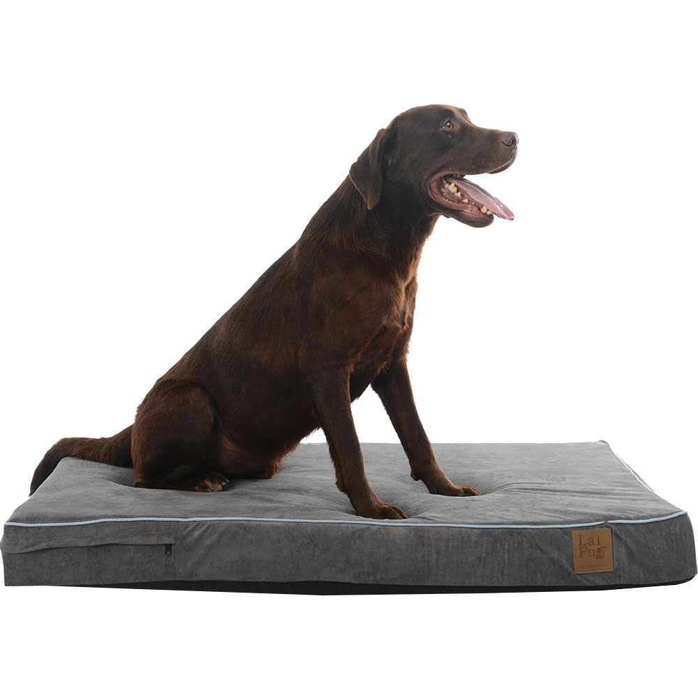 LAIFUG-ORTHOPEDIC-PET-BED-SLATE-GREY-LARGE-46X28