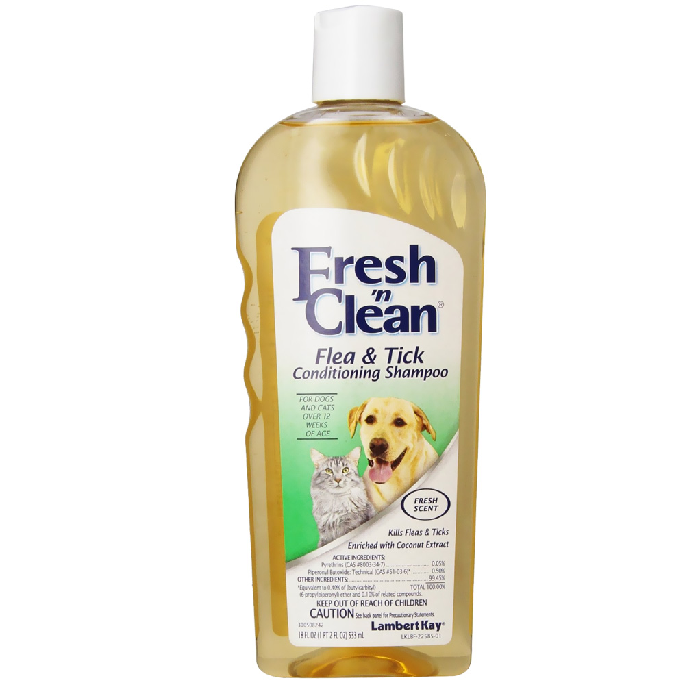 Image of Lambert Kay Fresh 'N Clean Flea & Tick Conditioning Shampoo for Dogs & Cats - Scented (18 oz)
