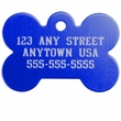 Large Bone Pet ID Tag
