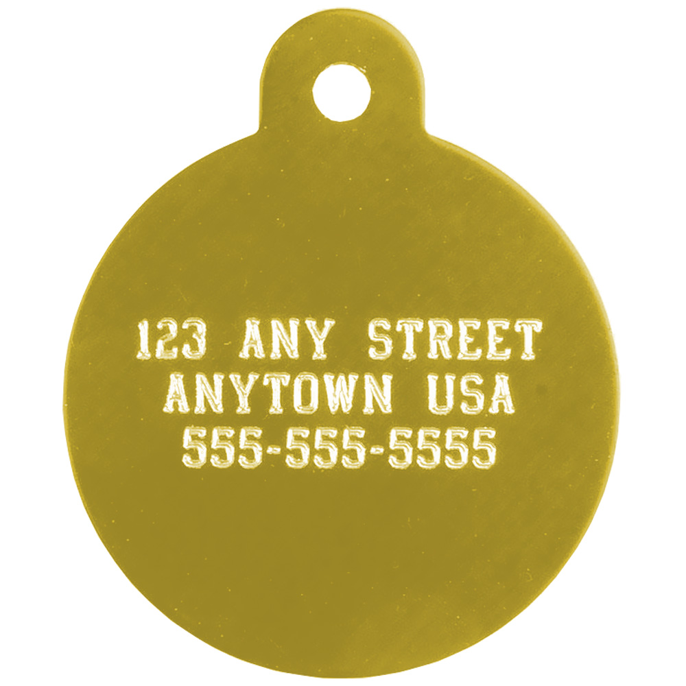 Herbsmith Large Circle Pet ID Tag - For Dogs - from EntirelyPets