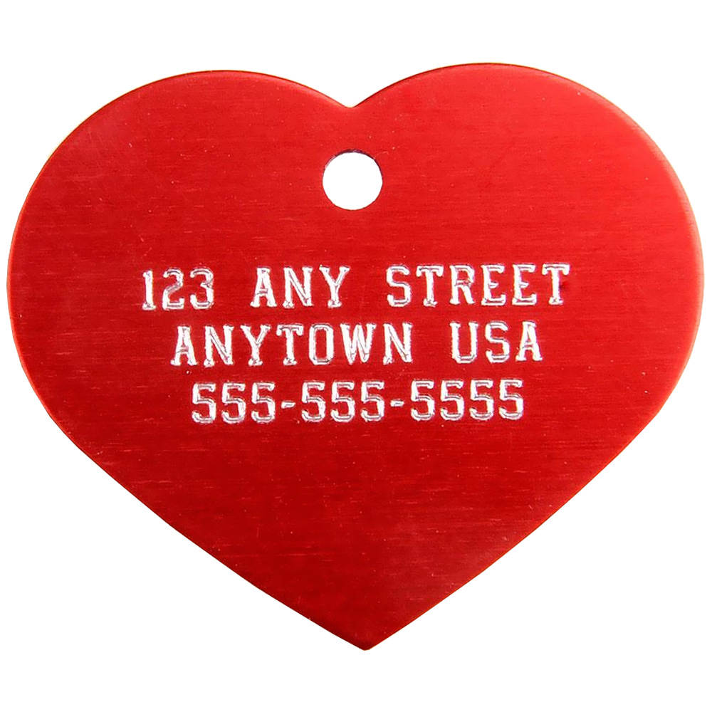 Large Heart Pet ID Tag - For Dogs - from EntirelyPets