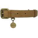 Leather Collar - Tan/Brown (Medium)