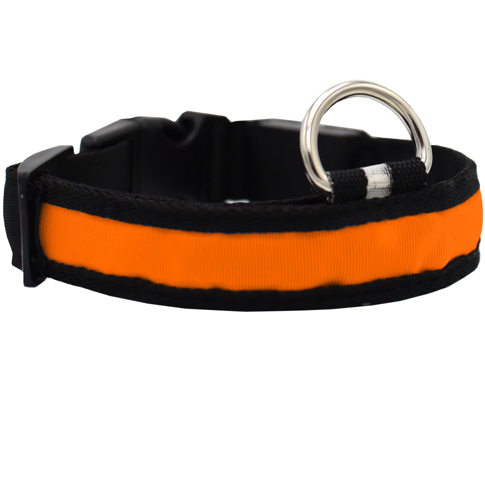 LED Safety Electric Glow Collar - Orange (X-Large) im test