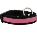 LED Safety Electric Glow Collar - Pink (Small)
