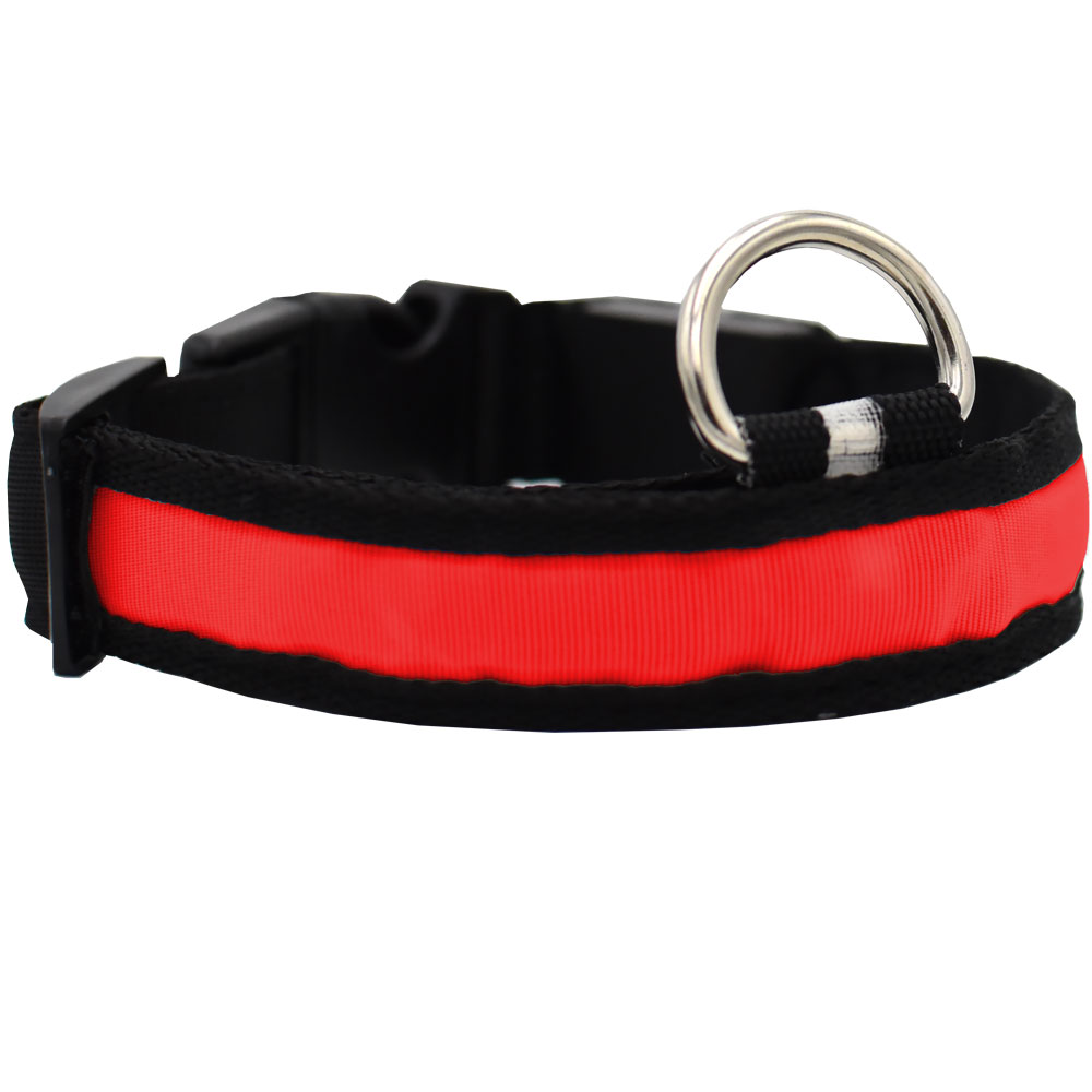 RED-LED-SAFETY-ELECTRIC-GLOW-COLLAR-LARGE