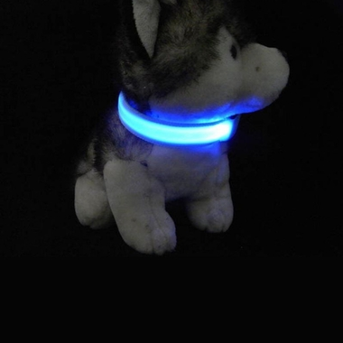 YELLOW-LED-SAFETY-ELECTRIC-GLOW-COLLAR-LARGE