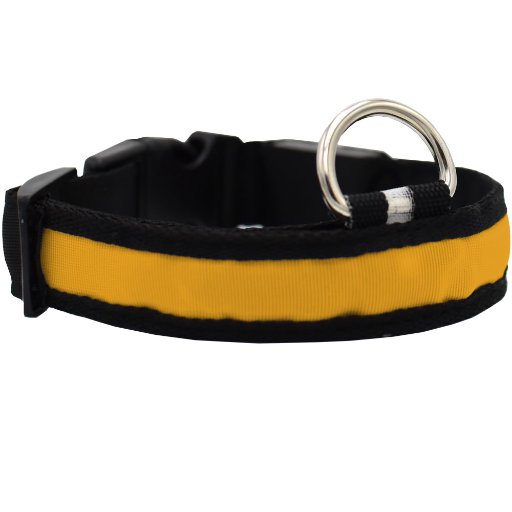 LED Safety Electric Glow Collar - Yellow (Small) im test