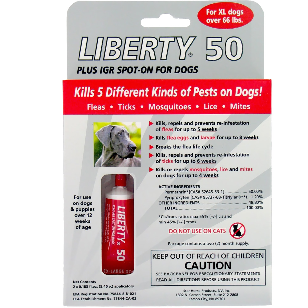 Liberty 50 Plus IGR Spot-On for X-Large Dogs (2 MONTHS) im test