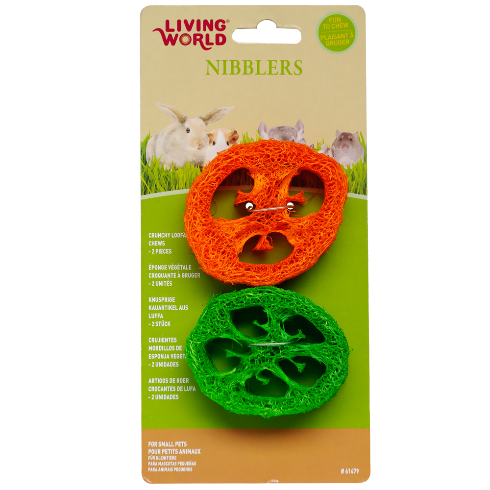 Living World Nibblers Loofah Chews Slices im test