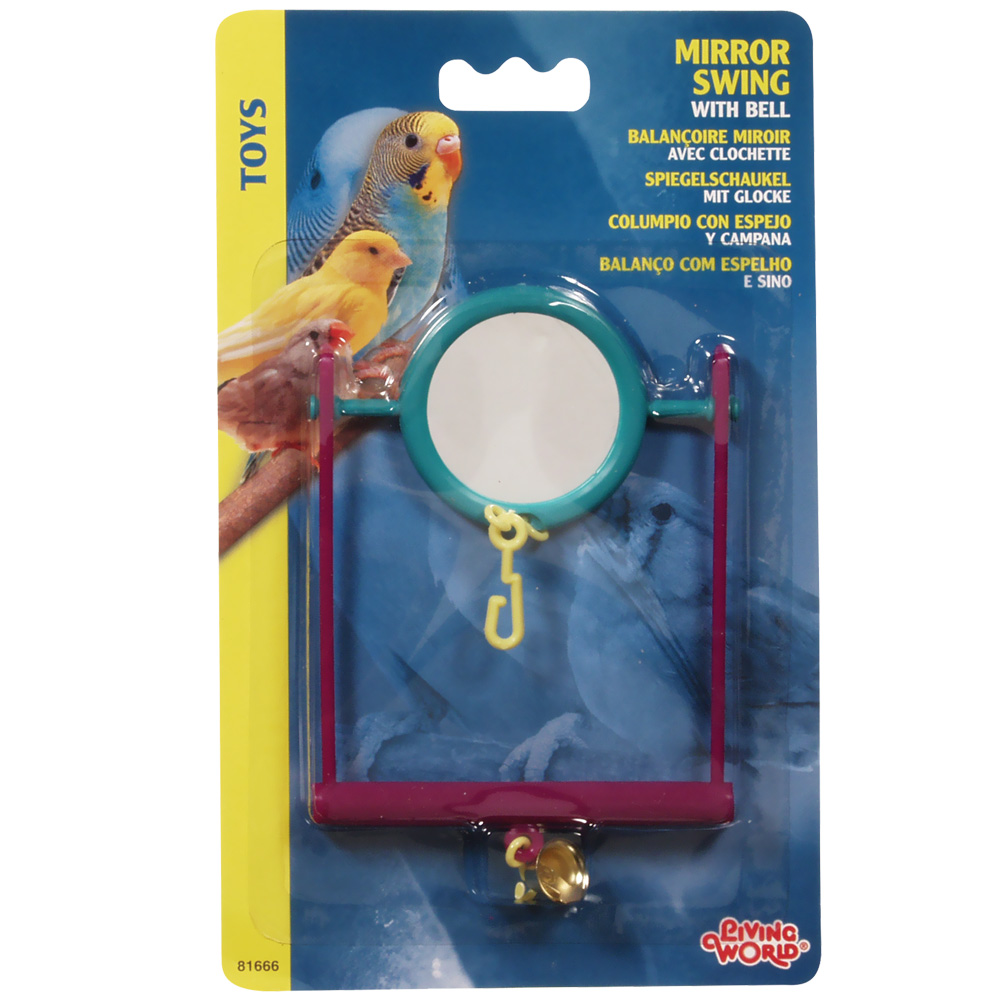 http://www.entirelypets.com - Living World Plastic Mirror Swing with Bell 1.79 USD