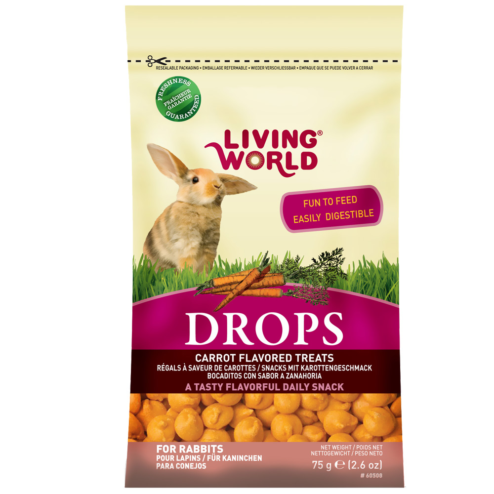 Living World Rabbit Treat - 2.6 oz - Carrot from EntirelyPets
