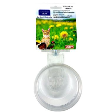 Lixit Quick Lock Translucent Cage Bowls for Birds and Small Animals