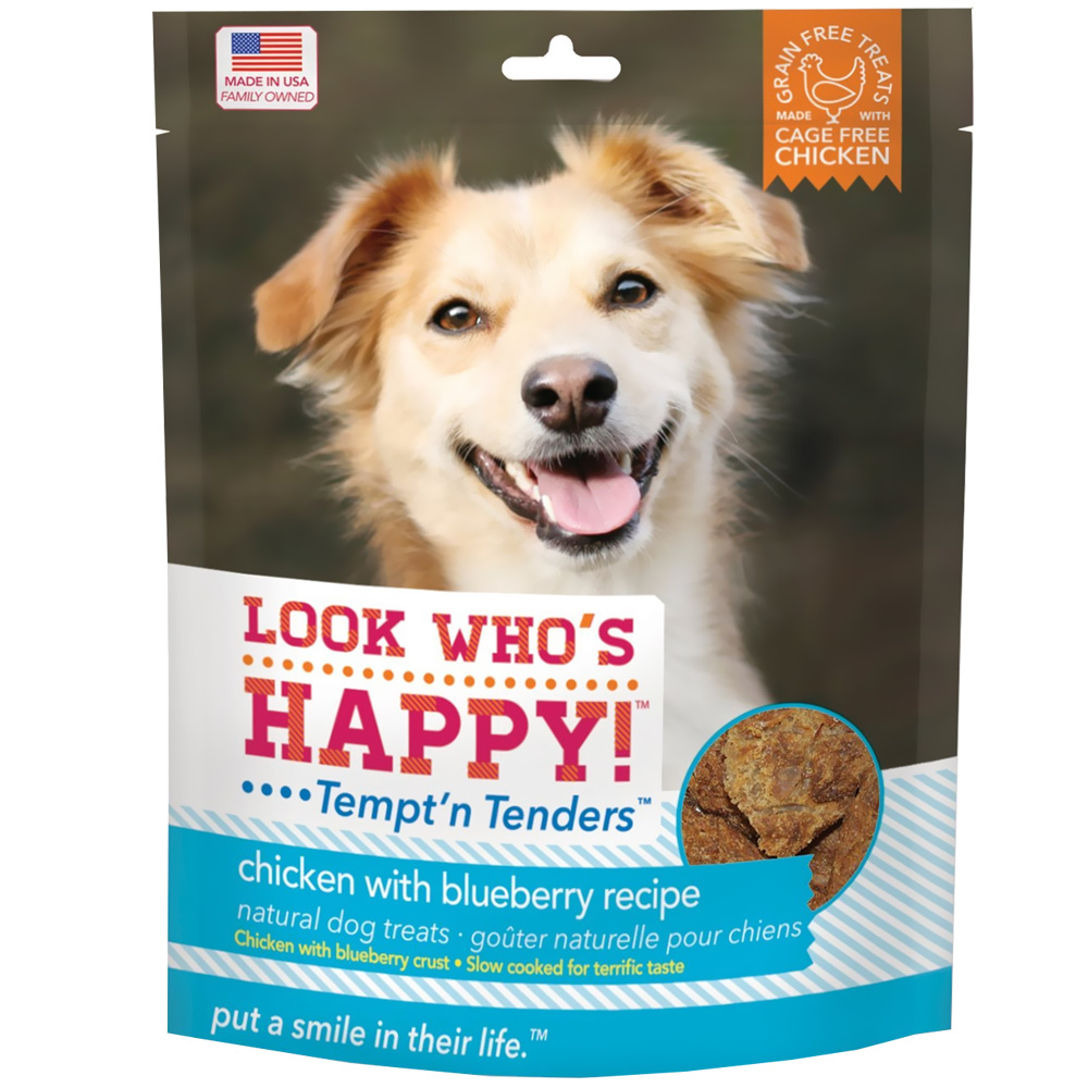 Look Who's Happy! Tempt'n Tenders - Chicken & Blueberry (5 oz) im test
