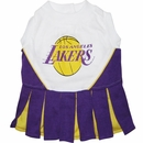Los Angeles Lakers Cheerleader Dog Dress - Medium