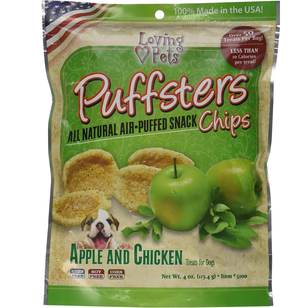Loving Pets Puffsters Apple & Chicken Treats for Dogs (4 oz) im test