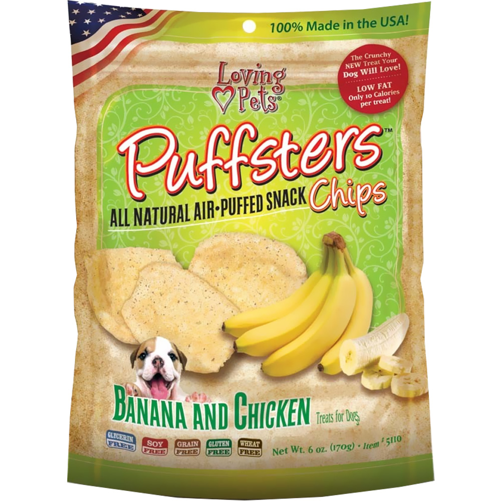 Loving Pets Puffsters Banana & Chicken Treats for Dogs (4 oz) im test
