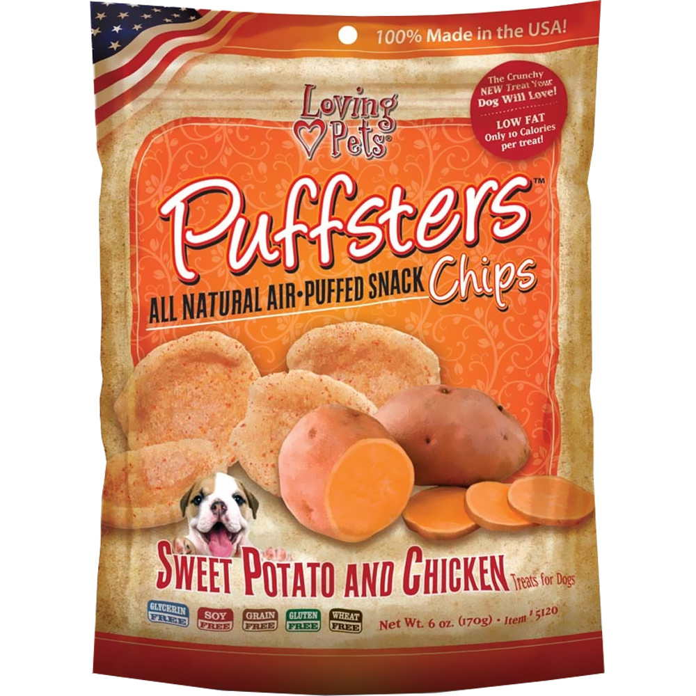 Image of Loving Pets Puffsters Potato & Chicken Treats for Dogs (4 oz)