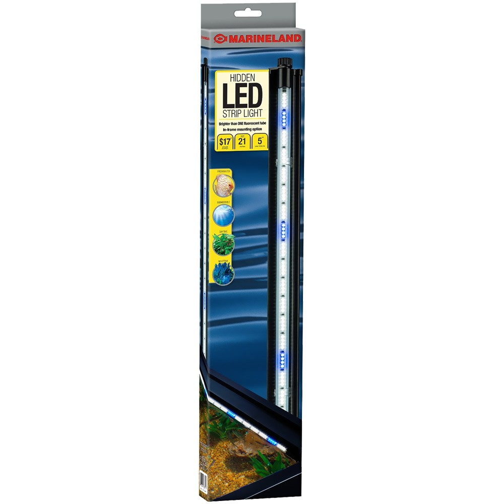 "Image of ""Marineland Hidden Submersible LED Lighting System (21"""" White/Blue)"""