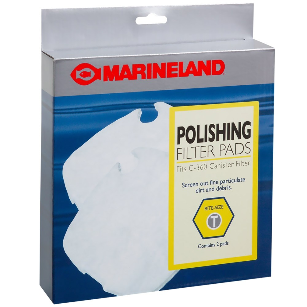 2-Pack Marineland PA11482 C-360 Canister Filter Polishing Filter Pads