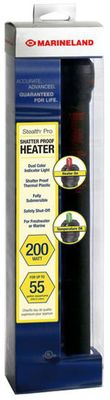Marineland Stealth Pro Shatter Proof Heater (200 Watt upto 55 gal)