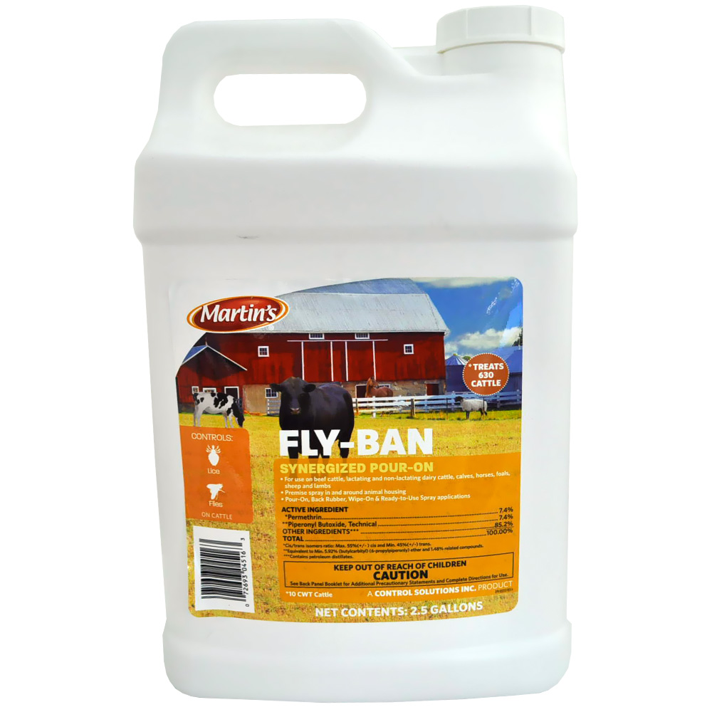Martin's Fly Ban Synergized Pour On (2.5 Gallon) im test