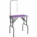 Master Equipment - Grooming Table with 36In Arm - Purple (36x24In)