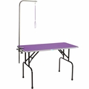 Master Equipment - Grooming Table with 48In Arm - Purple (48x24In)