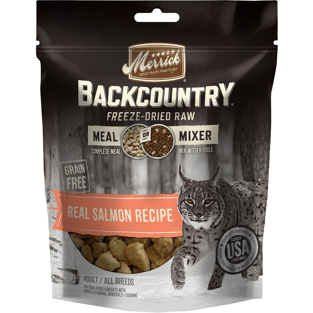 Image of Merrick Backcountry Freeze Dried - Real Salmon Recipe Meal Mixer for Cats (4 oz)
