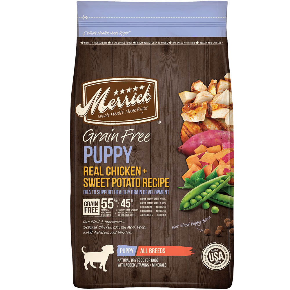 Merrick Grain Free - Puppy Chicken & Sweet Potato Recipe Dry Dog Food (25 lb) im test