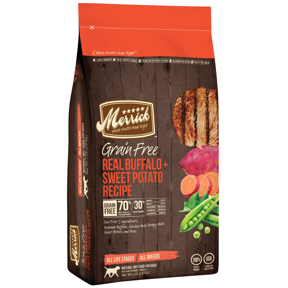 Merrick Grain Free - Real Buffalo & Sweet Potato Dry Dog Food (4 lbs) im test